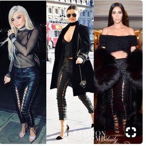 Unravel Project Lace up Leather pants ⭐️⭐️⭐️⭐️⭐️